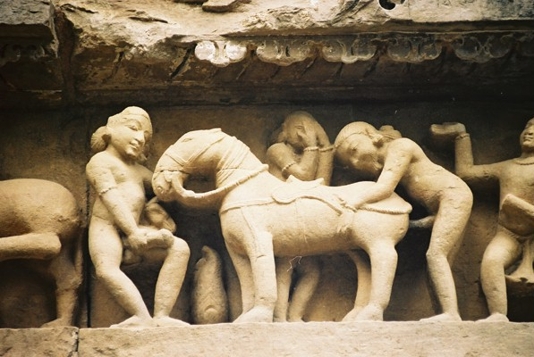 Rude sculpture on The temples of Khajuraho