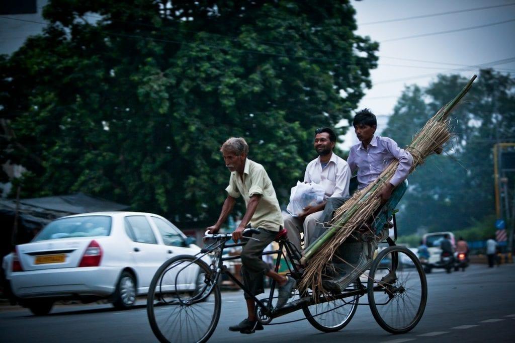 Bicycle rickshaw in India