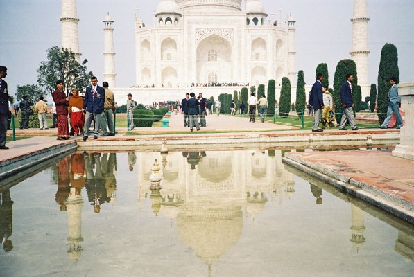 Visiting the Taj Mahal - It's reflection in the water