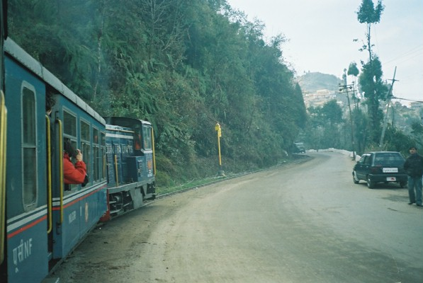 Taking the Darjeeling toy train