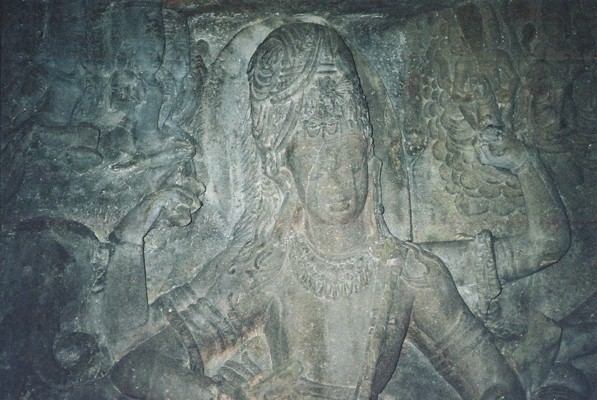 Carving in the Ellora Caves
