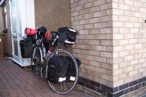 Loaded dawes bicycle