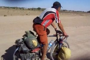 Dave Briggs cycling in Sudan