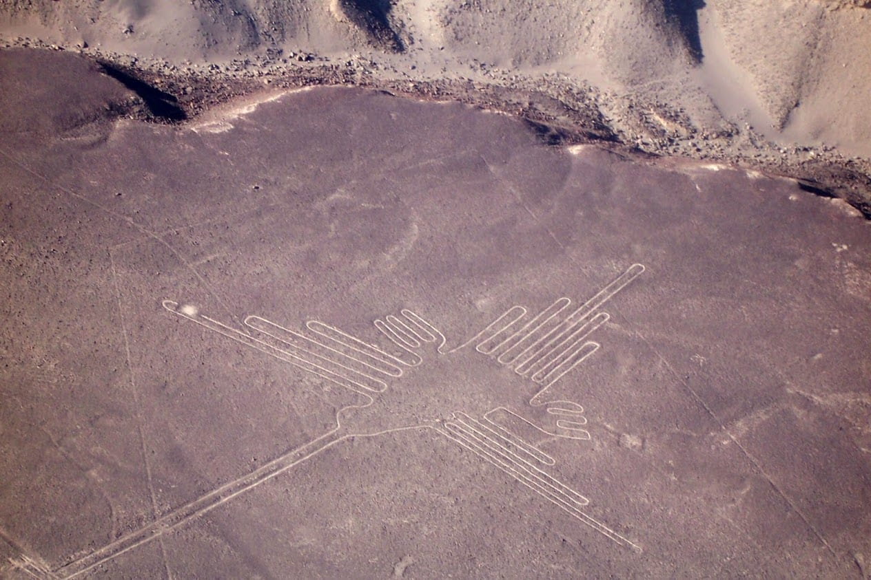 Nazca animal drawings in Peru