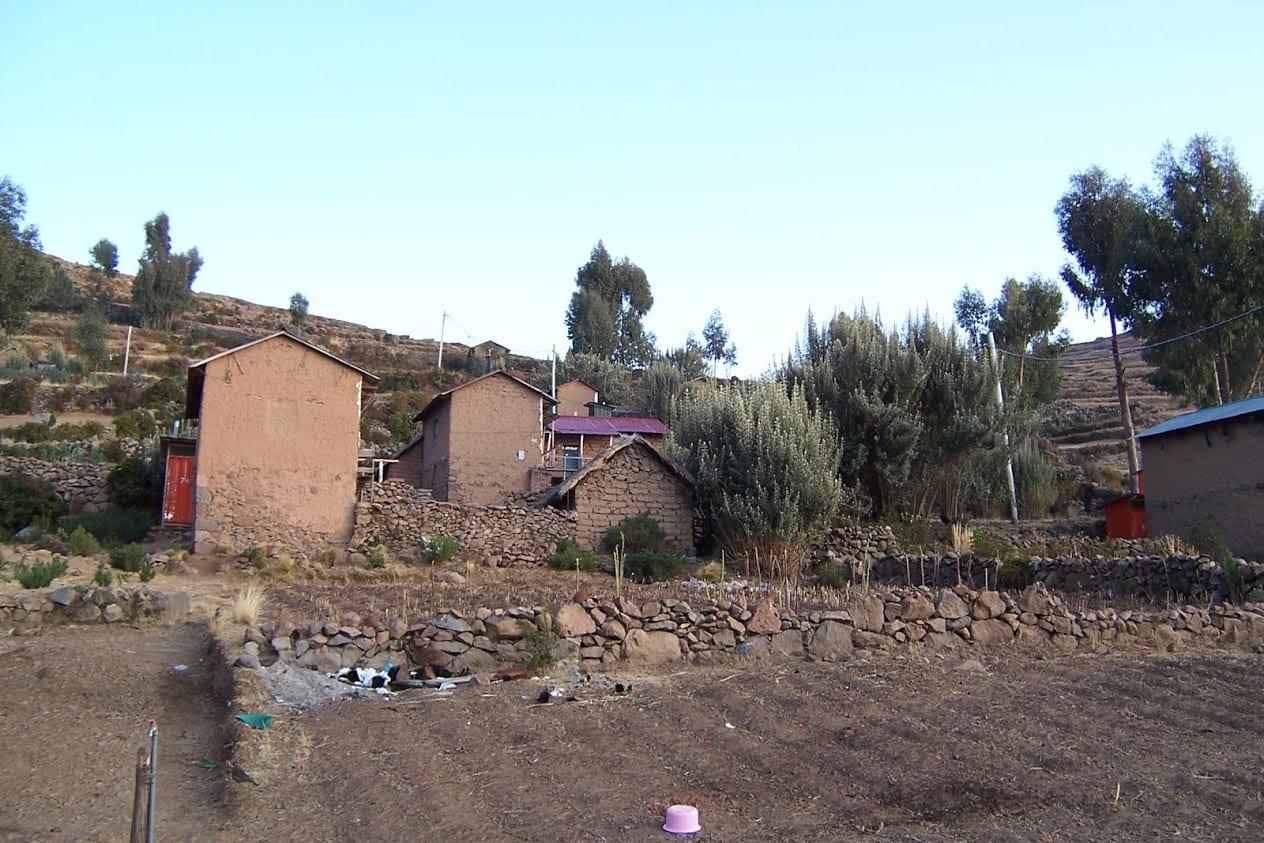 Leaving the Peruvian homestay