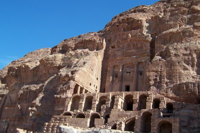 Exploring the archaeological site of Petra in Jordan