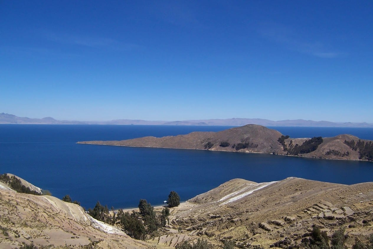 Views from the Isla del Sol in Bolivia