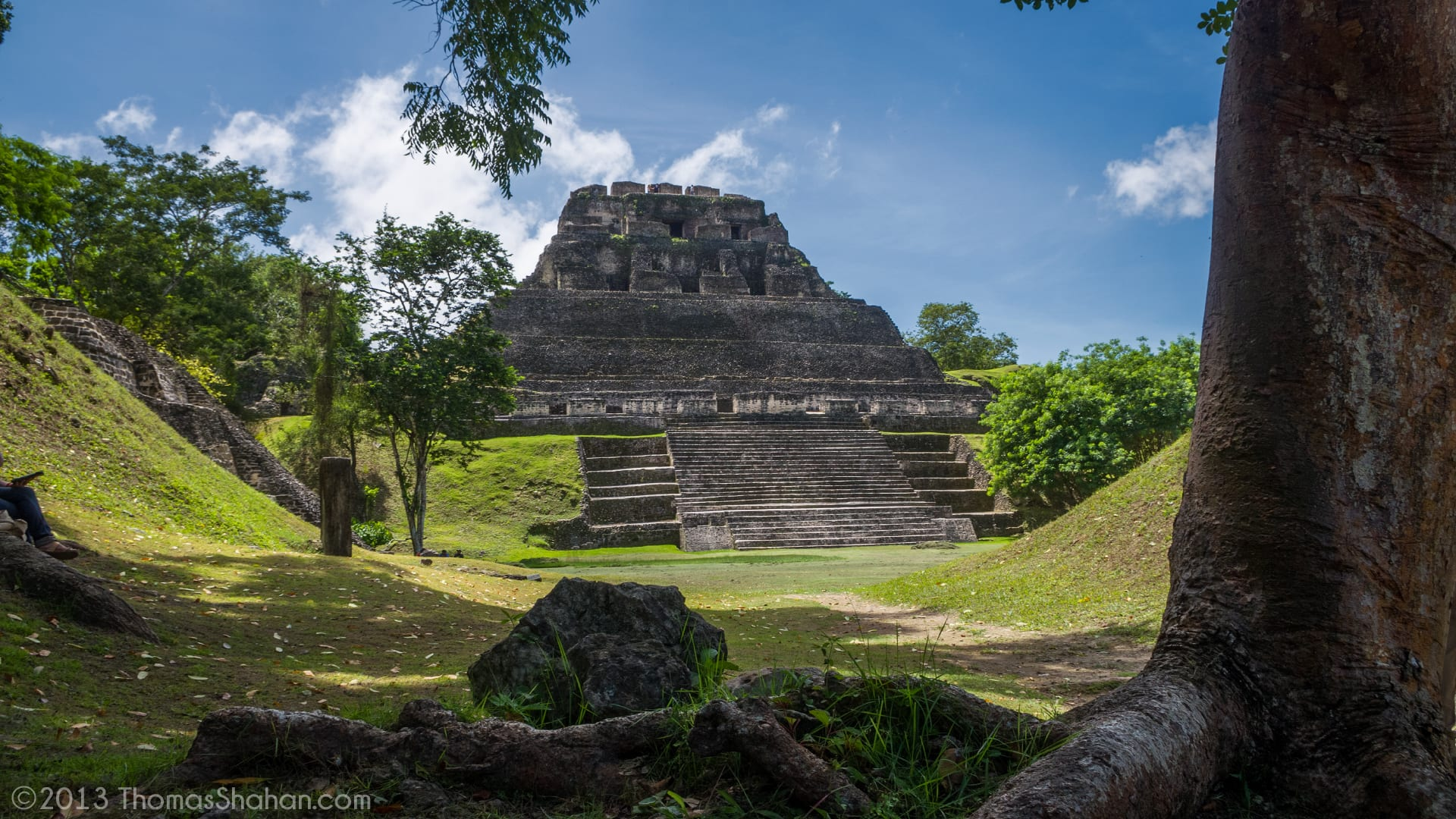The temple of Xunantunich in Belize