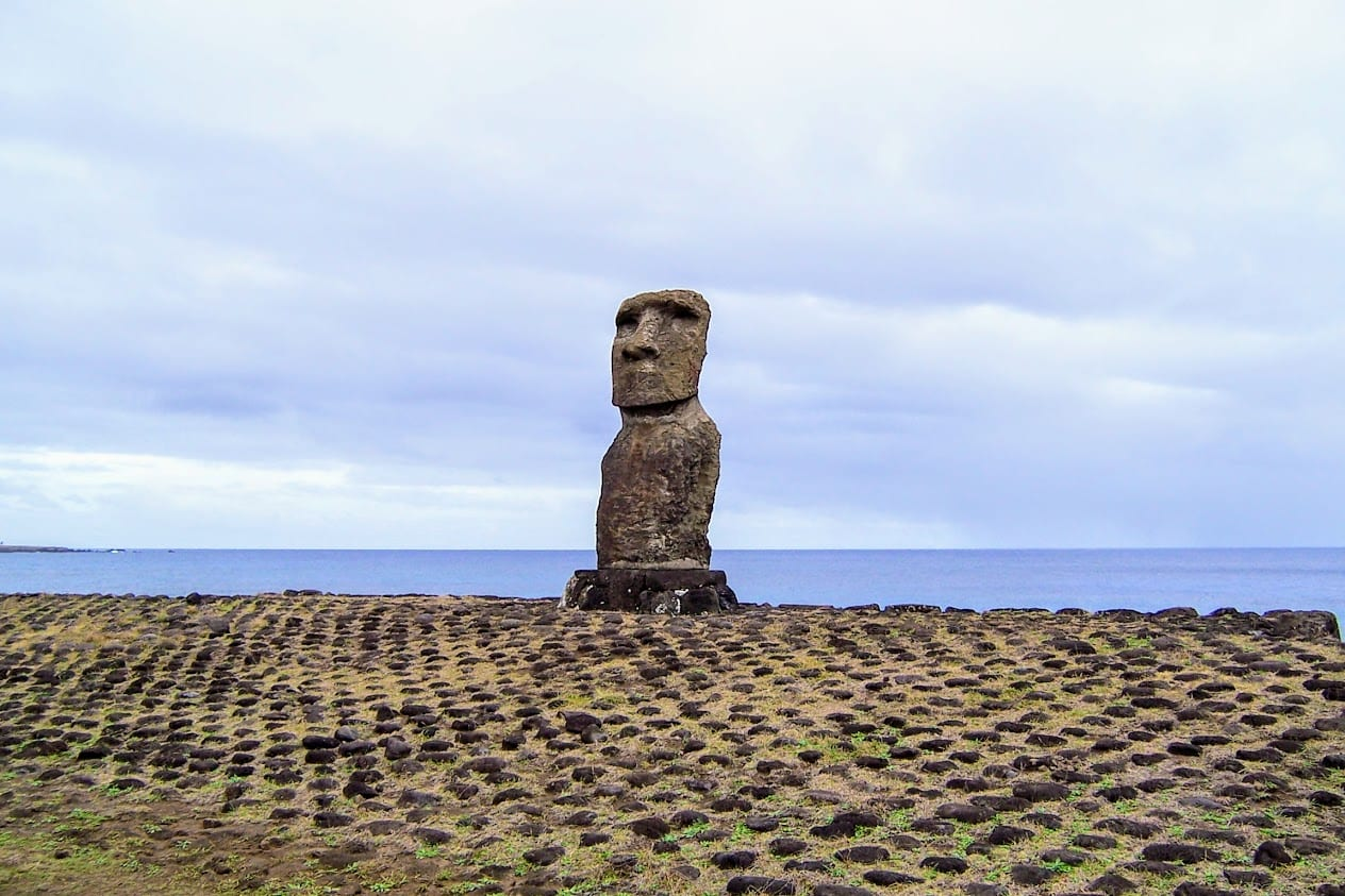 A statue on Easter Island