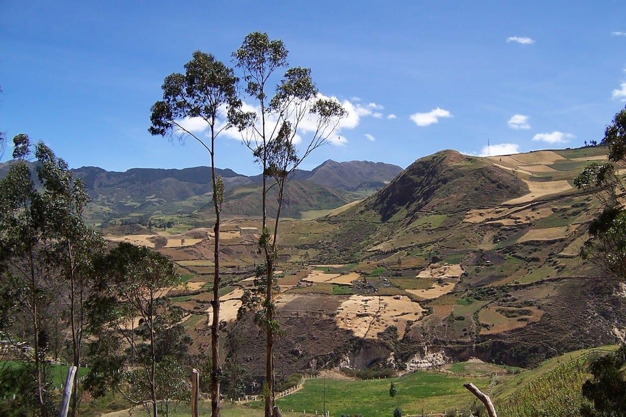 The beautiful countryside in Ecuador