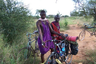 Some guy sin the bush I met when cycling England to South Africa