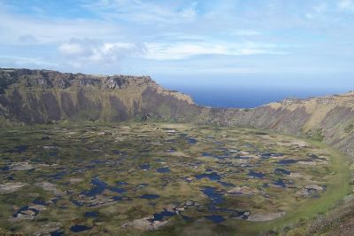 easter island crater