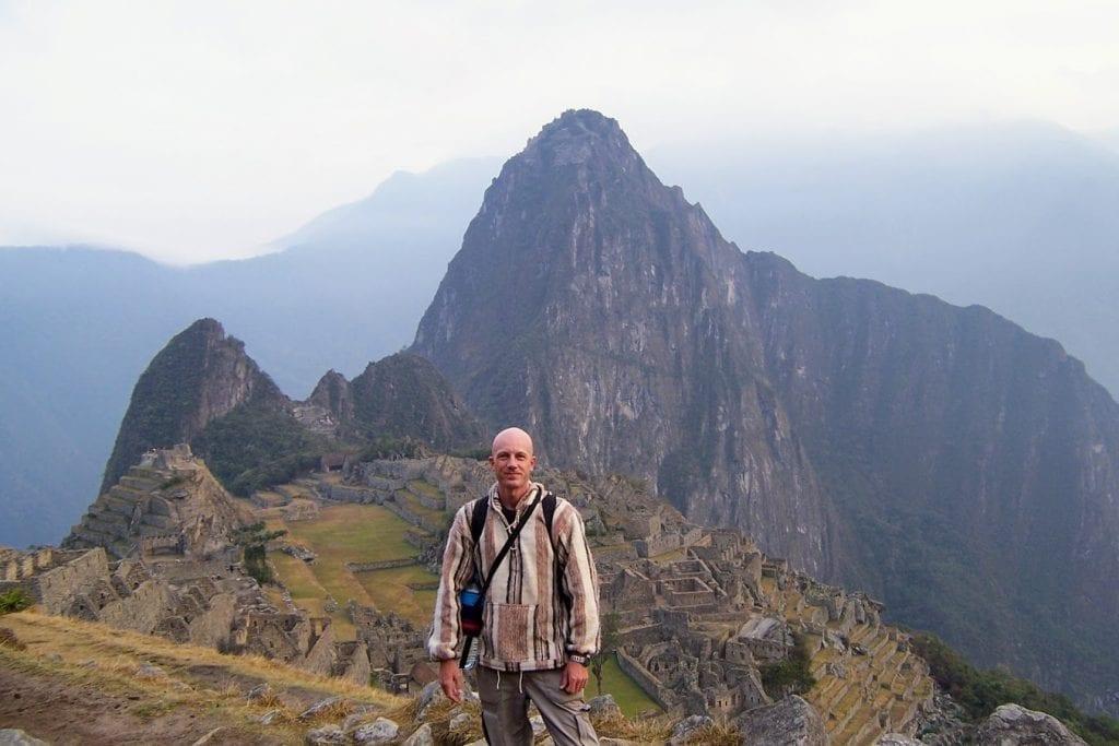 Dave Briggs at Machu Picchu in Peru