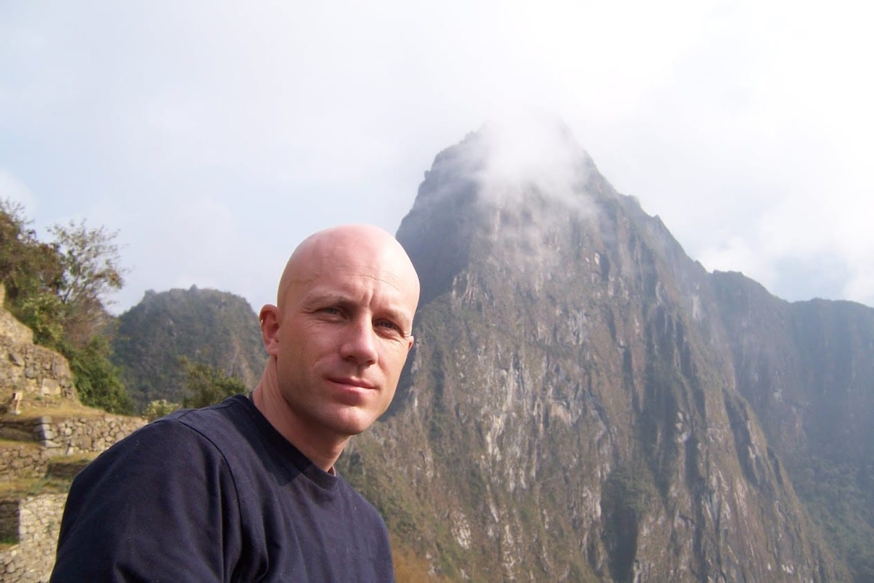 Dave Briggs at Machu Pichhu in Peru
