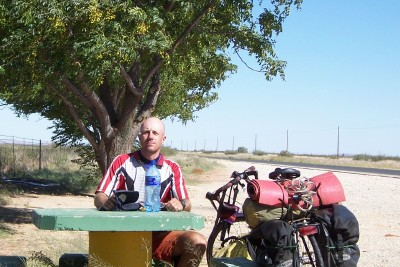 Dave Briggs cycling from England to South Africa