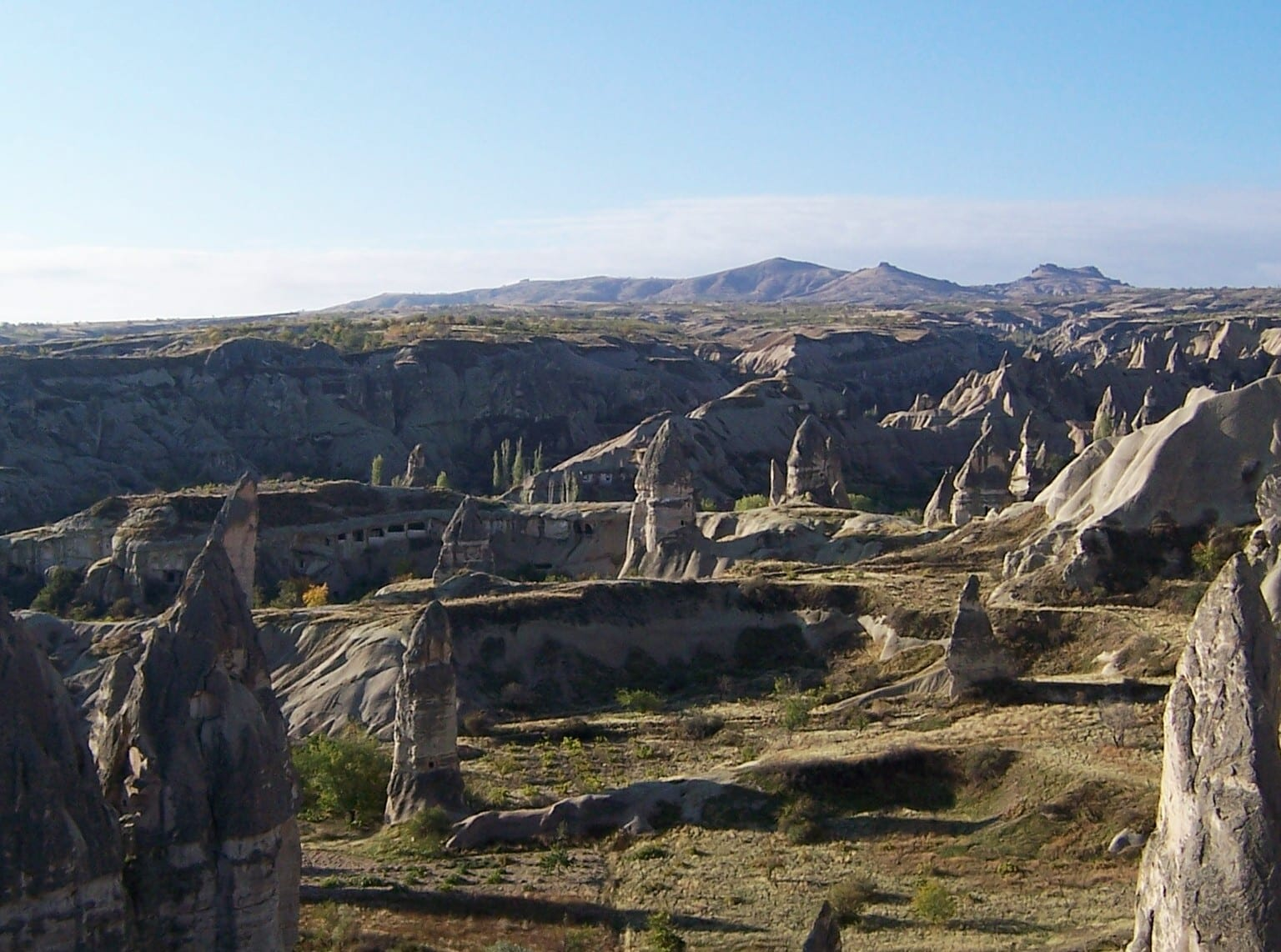 Sightseeing in Goreme, Turkey when cycling