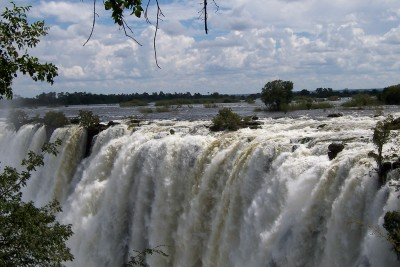 Livingstone Falls in Zambia