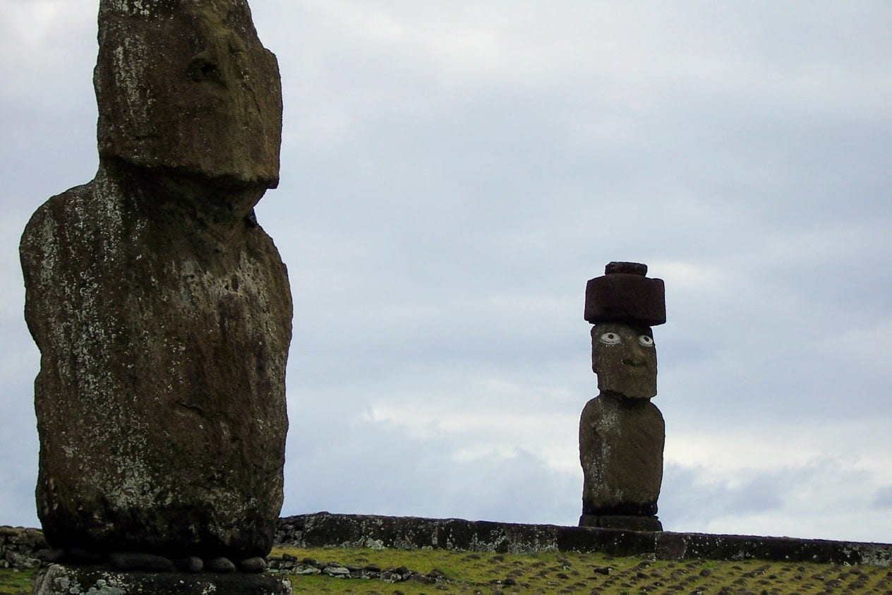 Mysterious statues of Easter island