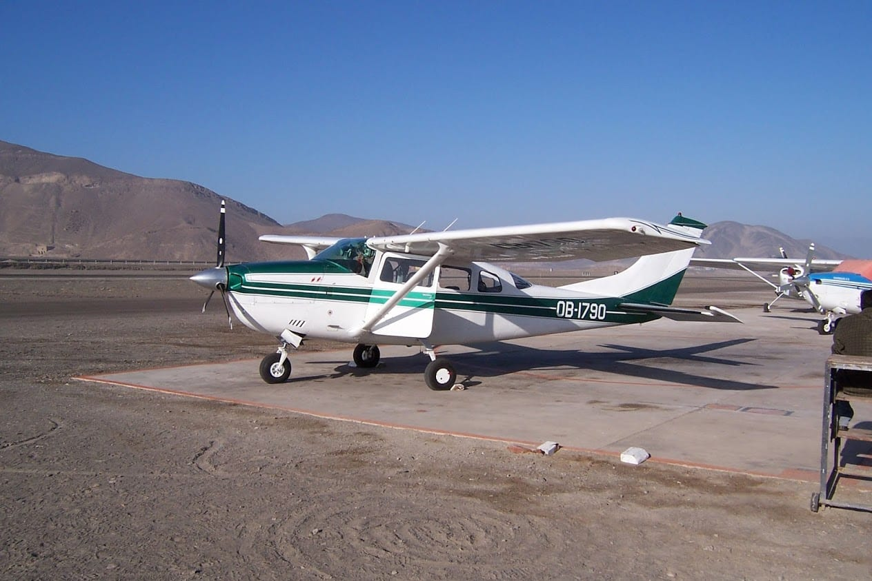 The plane for the Nazca Lines trip