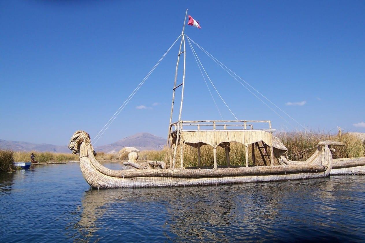 Reed boat in Peru