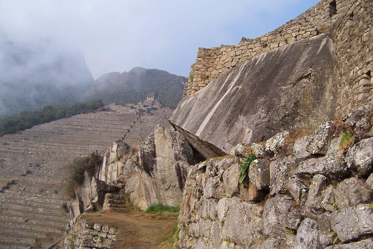 Rocks terraces and walls in Peru