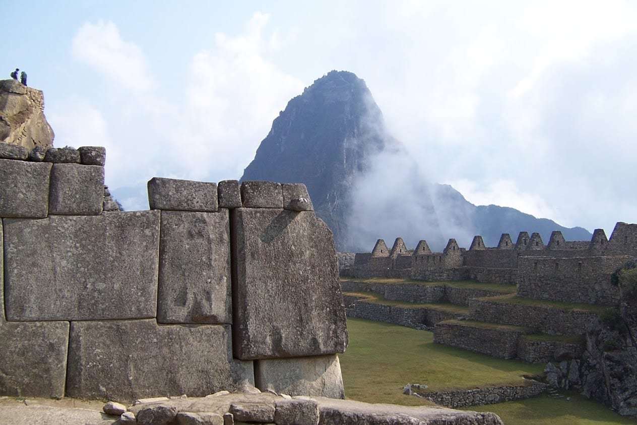 Stoneowkr at Machu Picchu Peru