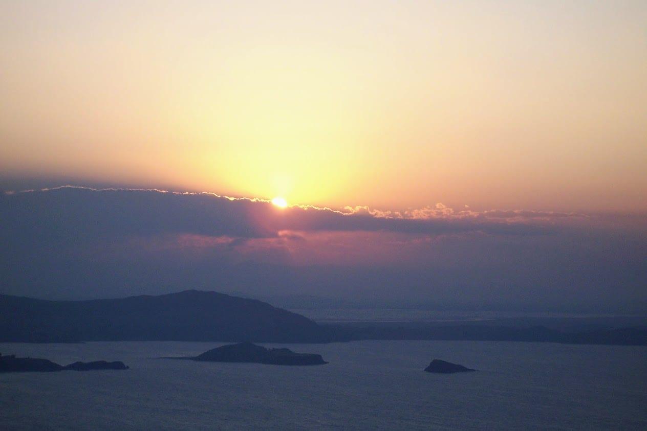 Sunset at Manatani in Peru