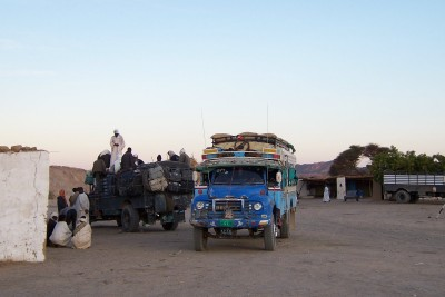 I spent the night at this truck stop in Sudan