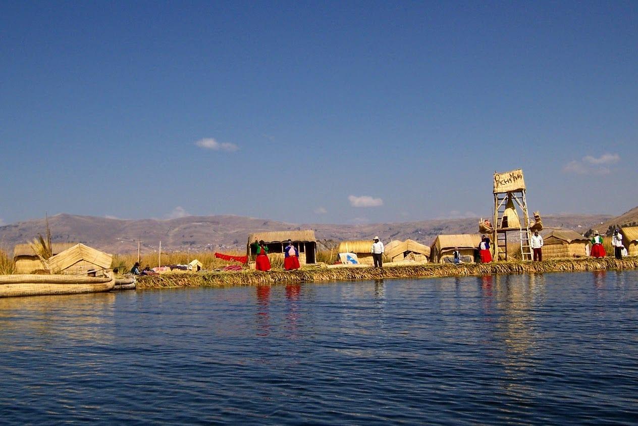Uros islands in Peru