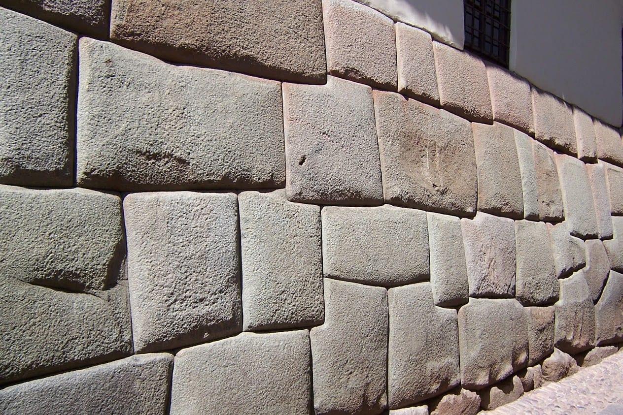 Incredible Incan walls in Cusco Peru