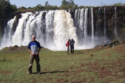 Dave Briggs at the Blue Nile Falls in Ethiopia