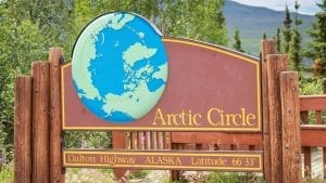 Cycling inside the Arctic Circle in Alaska