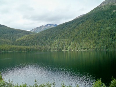 Cycling from Boya Lake to Dease River Crossing Campground in Canada