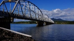 Cycling out of Teslin Canada