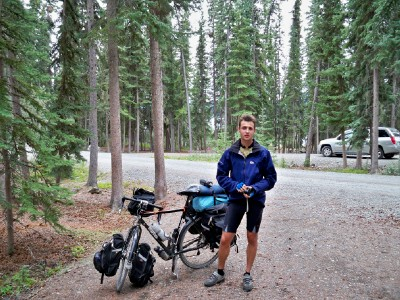 Cycling out of Whitehorse in Canada