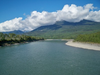 A view of Kitwanga as I cycled across Canada