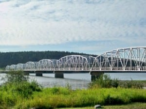 The Teslin Bridge in Canada