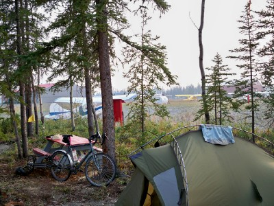 My campsite in the town of Tok in Alaska