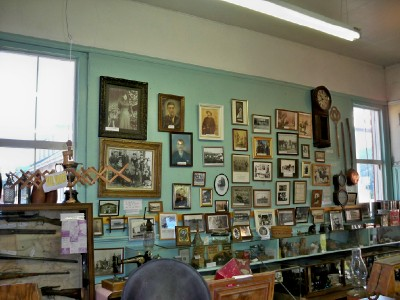 Inside the museum in the small village of Clinton, Canada