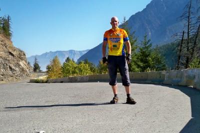 Dave Briggs bike touring in Canada