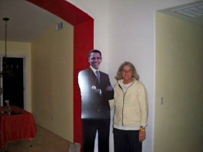 Anne and Obama - My warmshowers host in Guadelupe