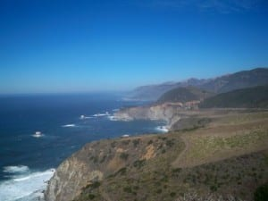 Awesome coast line when cycling the Pacific Coast Highway