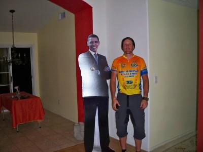Dave Briggs and Barrack Obama