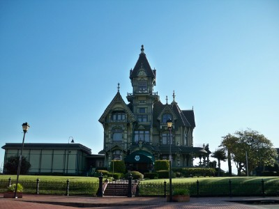A strange Victorian type house in the town of Eureka