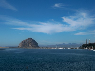 Bike Touring in California - The view over Morro Bay