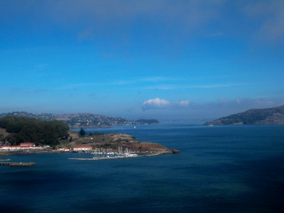 The view from the Golden Gate Bridge