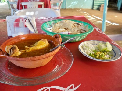 A Mexican meal when Cycling from Acapulco to San Marcos in Mexico - Bicycle Touring Blog