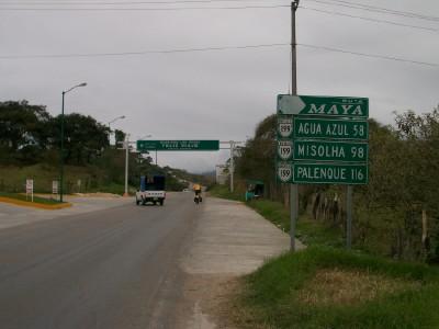 Cycling from Ocosingo to Agua Azul in Chiapas Mexico