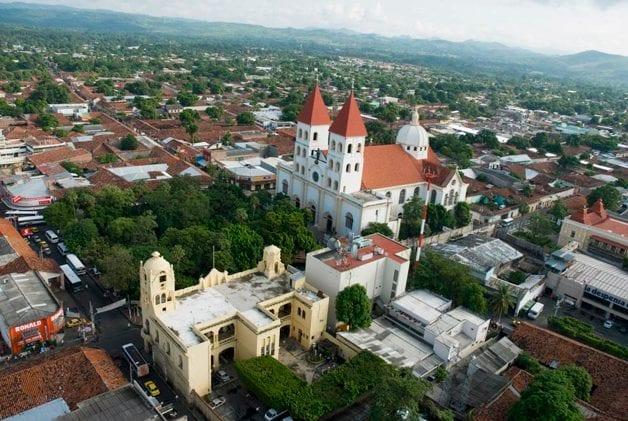 A look over San Miguel in El Salvador