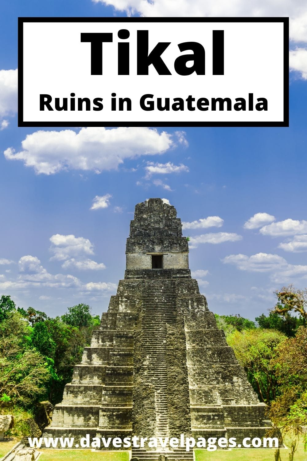 A collection of photos of Tikal in Guatemala